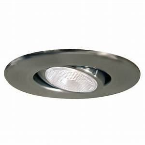 Halo Halo 4-in Satin Chrome Gimbal Recessed Lighting Trim