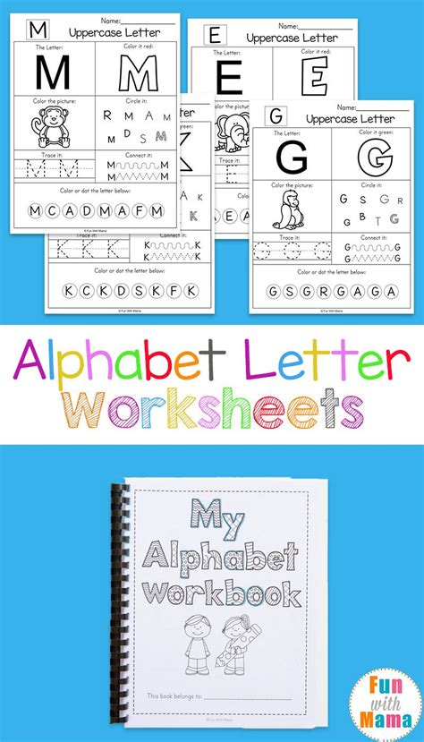 alphabet worksheets preschool letters printable