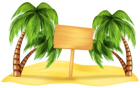 Transparent Beach Palm Decoration Png Clipart