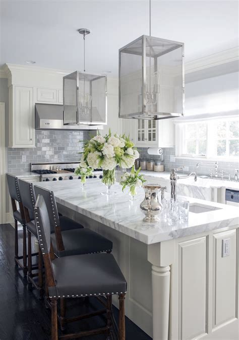 white kitchen cabinets with marble 48 marble kitchens that are beyond gorgeous 2069