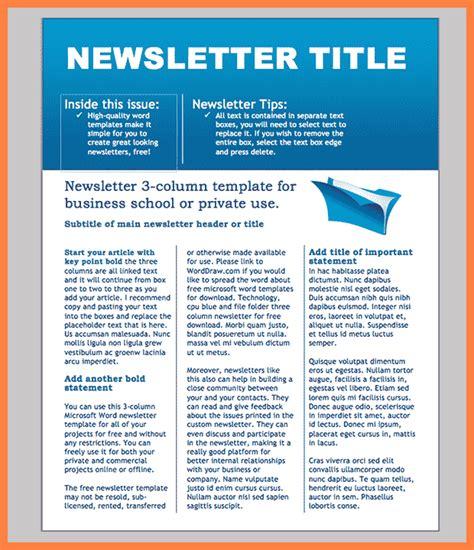 sample company newsletter templates company letterhead