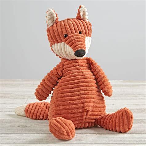 jellycat corduroy fox stuffed animal  land  nod