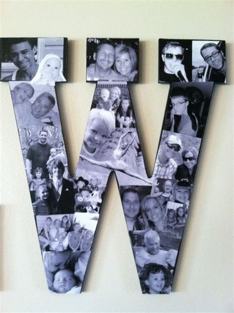 letter picture collage custom collage photo letters by picketfencecrafts on etsy 91240