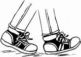 Foot Clipart Feet Walking Clip Clipartmag sketch template
