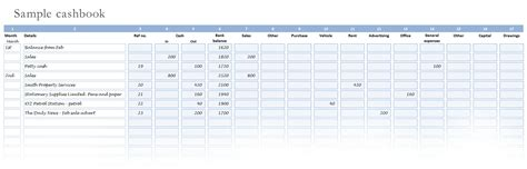 cashbook page template get cash book template exceltemple