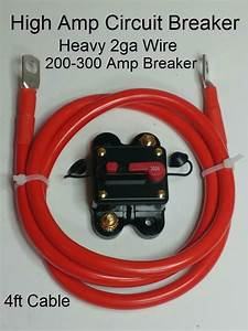 Circuit Breaker 4ft 2ga Winch  Atv  Utv  Tow  Service  Dump