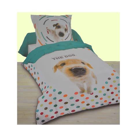 tapis chambre ado fille dogs housse de couette 140x200 cm 1 taie parure de lit