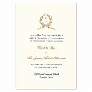 wreath monogram engraved white embassy wedding invitations With how much are engraved wedding invitations