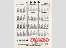 cafébar trébedes calendario 1999
