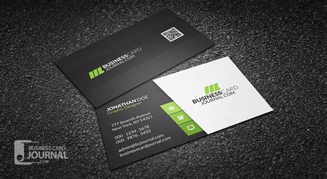clean business card template free free clean stylish corporate business card template