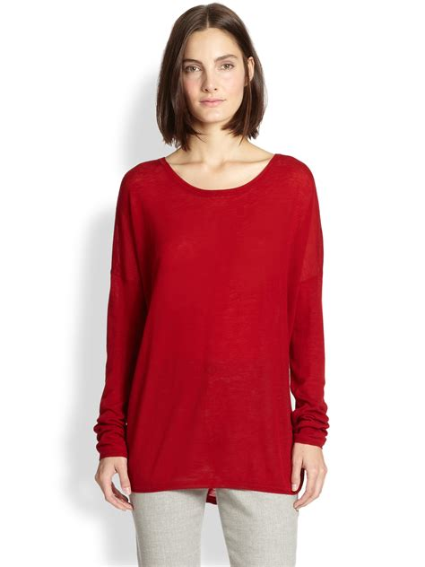 slouchy sweater vince blend slouchy sweater in claret lyst
