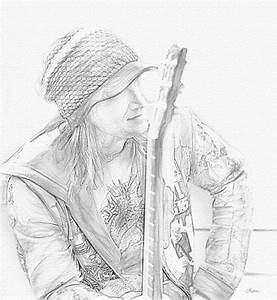 Man with a Guitar - Pencil Sketch - Show Your Essentials ...