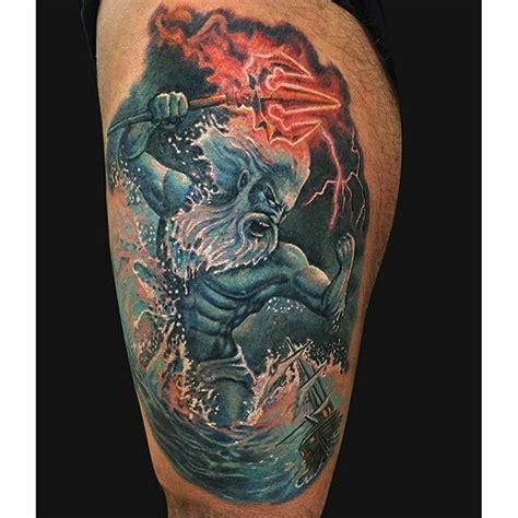 commanding poseidon tattoos tattoodo