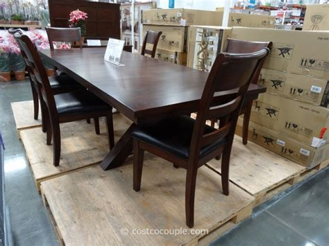 costco dining table in store hillsdale furniture bretton grove 7 piece dining set
