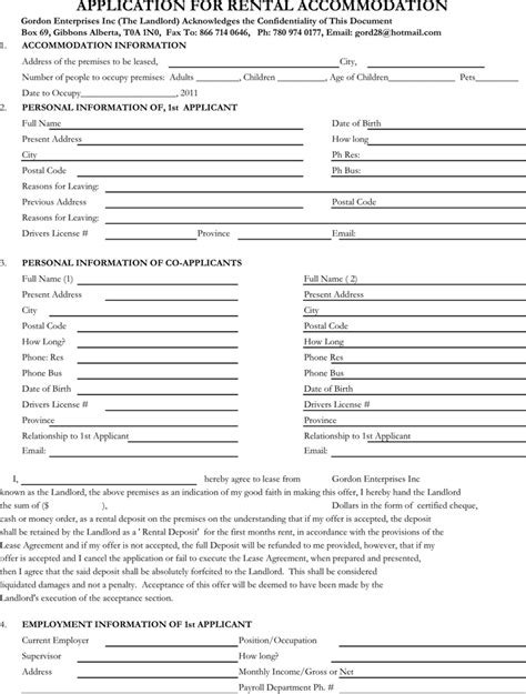 Resume Application Form Free by Free Rental Application Form Plates Resume Template