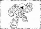 Coloring Pages Eye Skylanders Printable Miniforce Spy Ignitor Eyeball Hoot Loop Brawl Fizz Pop London Getcolorings Eyed Animal Giants Colouring sketch template