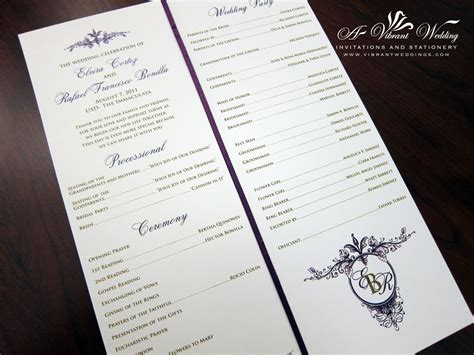 folded wedding programs ceremony programs a vibrant wedding