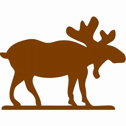 Moose Outline Svg Clip Silhouette Cartoon Brown