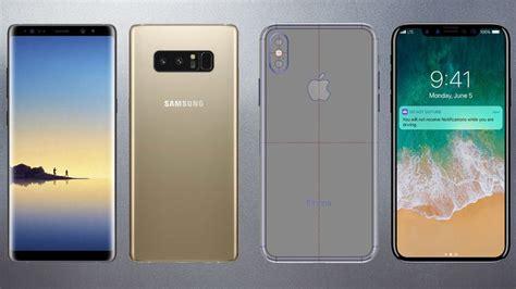 samsung galaxy note 8 vs iphone 8 scheda tecnica e prezzo