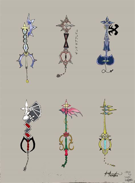 Organization Xiii Keyblades By Myanimexarts Color By