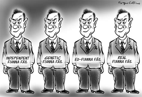 Irish political cartoons by Aongus Collins