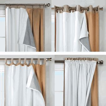 Blackout Drape Liner - insulated curtains and blackout curtains thermalogic