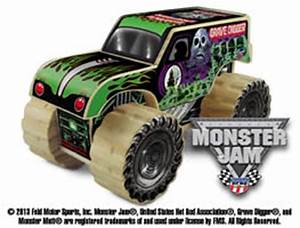 free monster jam kit featuring grave digger at lowes build With kitchen cabinets lowes with monster jam stickers