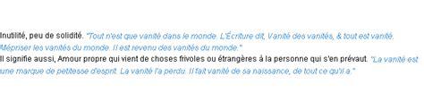Synonyme Vaniteux by Vanit 233 La D 233 Finition