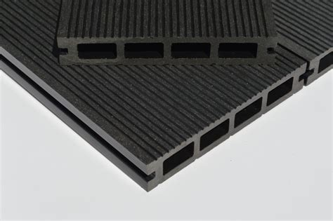 black charcoal grey composite decking board