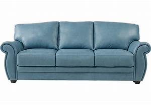 Martello blue leather sofa leather sofas blue for Blue leather sofa