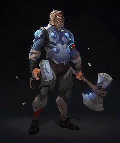 Thor Endgame Fat Artstation Marvel End Screen