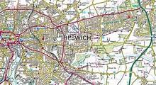 map of ipswich uk - Google Search | Vintage maps, Map, Ipswich