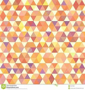 Retro Orange Pattern Of Geometric Shapes Stock Vector ...