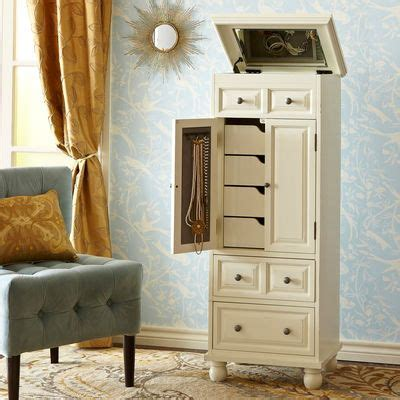 Antique White Jewelry Armoire  Crafts, Armoires And Storage