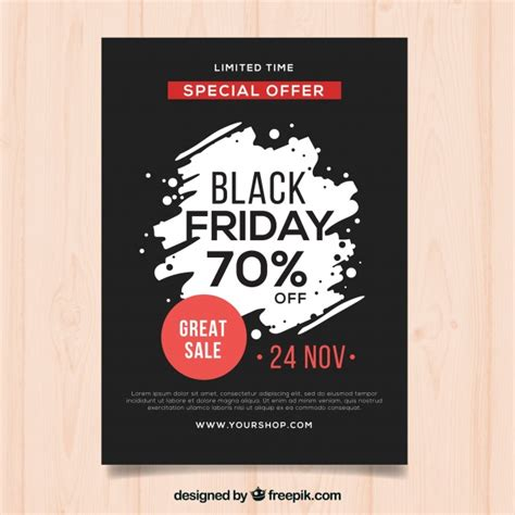 black frigay template black friday poster template vector free download