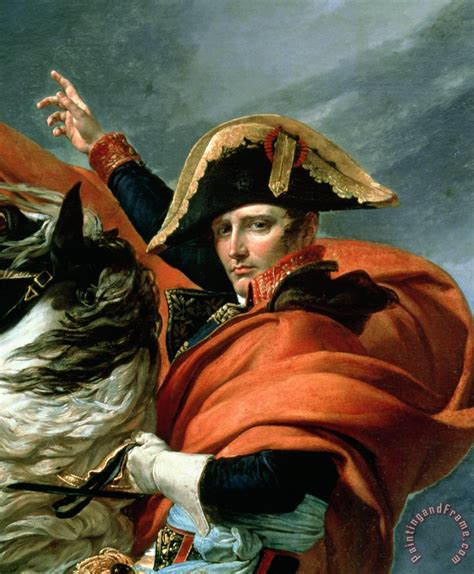 Jacques Louis David Napoleon Crossing the Alps on 20th May ...