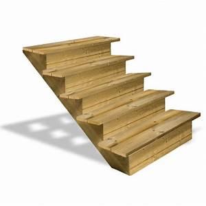 Marche Bois Escalier : escalier en bois 5 marches avec contremarches deck linea ~ Premium-room.com Idées de Décoration