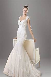embeoidered sweetheart neck cap sleeve mermaid lace With capped sleeve wedding dress
