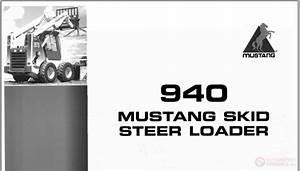 Mustang Steer Loader 940 Parts Manual