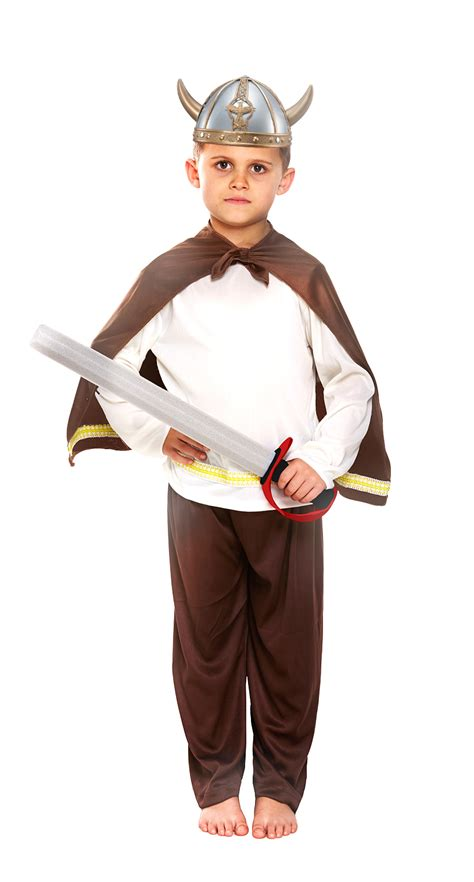Viking + Helmet Kids Fancy Dress Saxon Warrior Childs School Book Costume Outfit | eBay