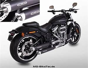 Harley Davidson Auspuff : miller slip on schalld mpfer mit abe f r softail ~ Jslefanu.com Haus und Dekorationen