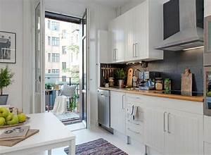 Amenager Petit Balcon Appartement : am nager une petite cuisine 40 id es pour le design ~ Zukunftsfamilie.com Idées de Décoration