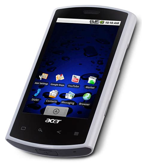 android cell phone acer liquid a1 android mobile phone review rambling
