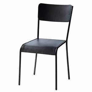 Chaise Bistrot Maison Du Monde : chaise indus en m tal noire edison maisons du monde ~ Melissatoandfro.com Idées de Décoration