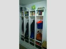 Builtin Entryway Cubbies Using Billy Bookcases