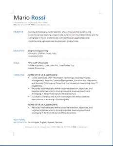 Cv Europass Italiano Esempio Example Good Resume Template