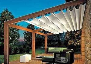 Pergola markise zum sonnenschutz 23 beispiele for Markise balkon mit wohnzimmer tapeten landhausstil