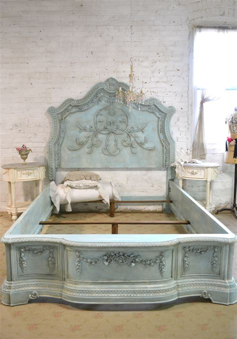 shabby chic king headboard french bed painted cottage shabby chic queen king bed i love love love this pinterest