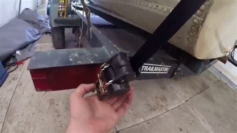 Boat Trailer Straps by Ratcheting Trailer Tie Install Aluminum Boat