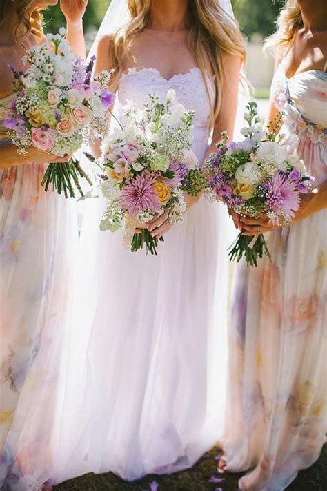 Wedding Trends Floral Bridesmaid Dresses Belle The